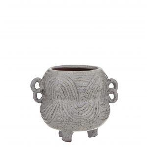 Amalfi Marketti Planter Pot Speckled Grey 15.5x12x12cm