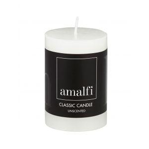 Amalfi Classic Unscented Pillar Candle White 5x5x7.5cm