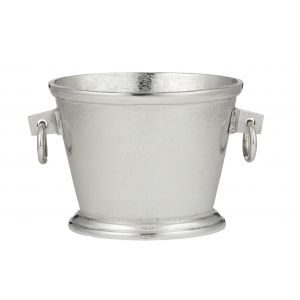 Society Home Ellison Oval Beverage Cooler/Bucket Silver 20x20x33cm