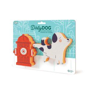 Fred Dirty Dog Sponge - set of 2 Multi-Coloured 21x16x3.5cm