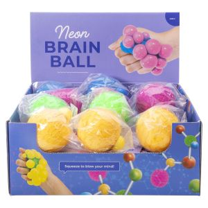 IS GIFT Atomic Brain Ball - Neon  assorted Blue, green, yellow & pink
