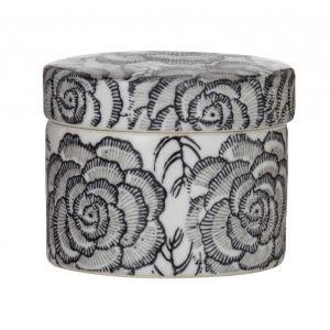 Society Home Camellia Deco Box Black/Grey/White 11.5x11.5cmx9cm