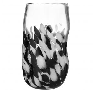 Amalfi Matienne Vase Clear/Black/White 17x17x30cm