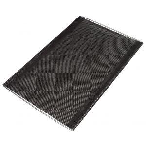 NoStik Reusable Non-Stick Adjustable Oven Crisper Shelf Black 41x31x1cm/Fits up to 49cm