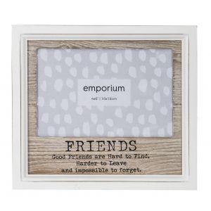 "Emporium Amigos 4x6"" Photo Frame Natural/White 17x19cm"