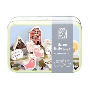 Apples to Pears Three Little Pigs in a Tin Multi-Coloured 14.5x10.5x5.6cm