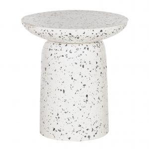Amalfi Lucas Side Table White/Black 50x50x55cm
