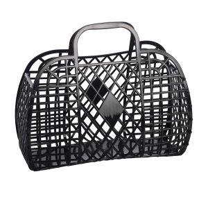 Sun Jellies Retro Basket - Large Black 35x30x15cm