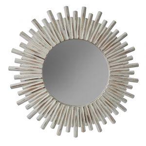Amalfi Sunbeam Mirror White Wash 109x109x3.5cm