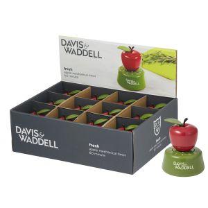 Davis & Waddell Apple Mechanical Timer 60 Minute Red/Java Green 7.5x7.5x9.5cm