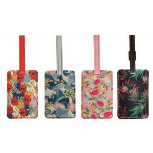 The Australian Collection Luggage Tag - Botanical Multi-Coloured 23.5x10x0.4cm