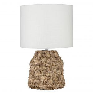 Amalfi Barbados Table Lamp Natural/White 35x35x55cm