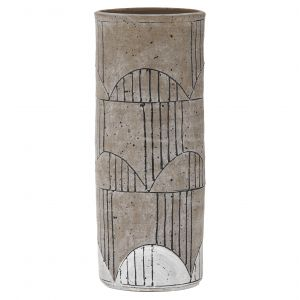 Amalfi Arkett Vessel Stone/White/Black 12x12x32cm