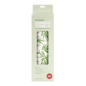 Is Gift Reusable Bamboo Towels (min 6) White 28x8.5x8.5cm