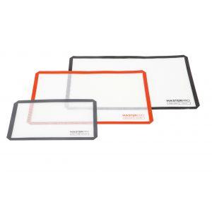 Fibreglass Silicone Rectangular Baking Mat Set/3