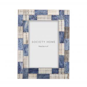 "Society Home Salina 4x6"" Photo Frame Blue/Grey 16.5x1.5x21.5cm"