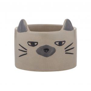 Emporium Cazza Cat Pot Grey/Blue/Black 14x14x11.5cm