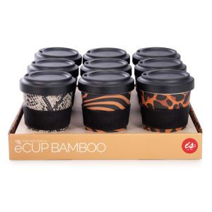 IS GIFT eCup - Bamboo Animal Prints assorted Leopard, Tiger & Snakeskin prints.