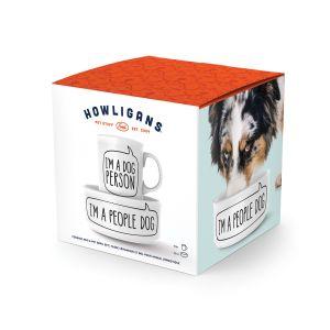 Fred Howligans Mug & Dog Bowl Set – Dog Person  White