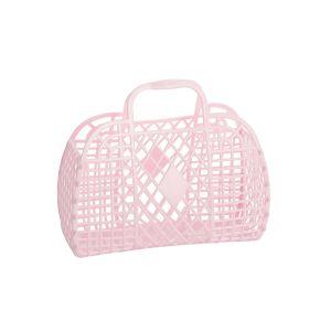 Sun Jellies Retro Basket - Small Pink 25x22x11cm