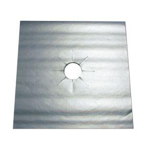 NoStik Reusable Non-Stick Gas Cooktop Protector Set/4 Silver 27x27x0.1cm