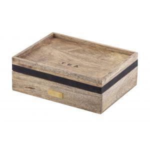 Academy James Tea Box Natural/Black/Gold 25x20x8cm