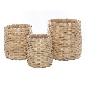 Rogue Ishani Basket Large Set/3 Natural 26/32/43cm