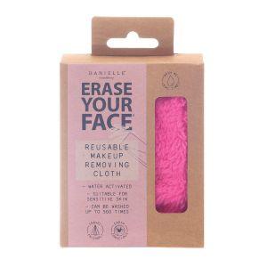 Erase Your Face Reusable Makeup Removing Cloth Pink colour