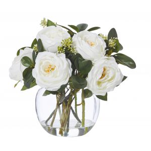 Rogue Columbian Rose Mix-Glass Fish Bowl White/Glass 31x30x31cm