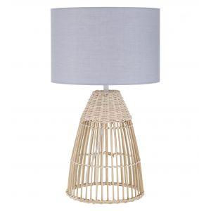 Amalfi Foster Table Lamp Natural/Grey 30x30x50cm