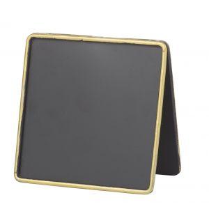 Amalfi Mini Blackboard Black/Gold 6.5x13.5cm