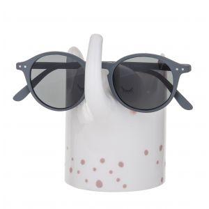 Emporium Eli Elephant Glasses/Pen Holder White/Pink 10.5x8x12cm