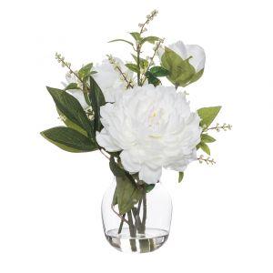 Rogue Peony Nite Berry Mix-Adina Vase White/Glass 29x28x37cm