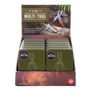 IS GIFT Compact 11 in 1 Multi Tool in a Tin  Silver Packaged in a stylish and re-useable gift tin