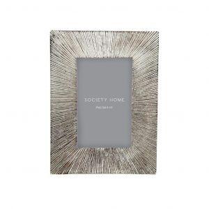 """Society Home Palmer 4x6"""" Photo Frame Silver 16x1.5x20cm"""