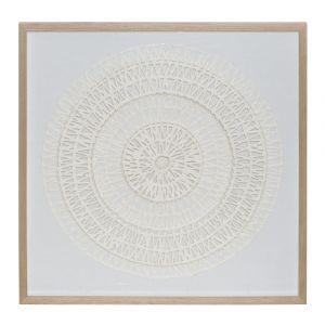 Amalfi Teluna Wall Décor Cream/White 80x4x80cm