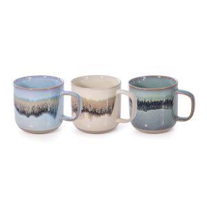 Is Gift Reactive Glaze Mug - 460ml (3Asst) Assorted 9.5cm Dia