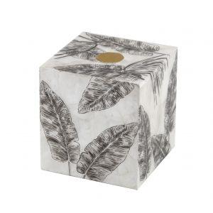 Amalfi Edvin Square Tissue Box Black/White 15x15x16cm