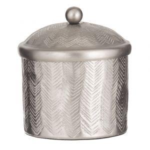 Society Home Anderson Trinket Box Silver 12x12x15cm