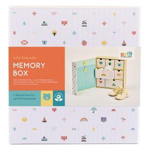 Petit Collage Baby Memory Box Multi-Coloured 21.8x23x6cm