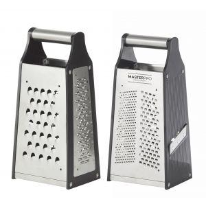 MasterPro Universal 4 Sided Box Razor Edge Grater Stainless Steel/Black 10.5x8.5x23cm