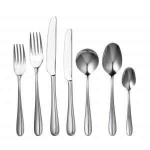 Davis & Waddell Imperial Cutlery Set 56pce Stainless Steel 8 Table Fork/8 Table Knife/8 Entree Fork/8 Entree Knife/8 Dessert Spoon/8 Soup Spoon/8 Teaspoon