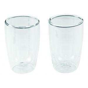 Leaf & Bean Double Wall Coffee & Tea Glass Set/2 Clear 7.5x7.5x11.5cm/280ml