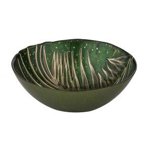 Amalfi Agata Bowl Ginger/ Dark Green 16.5x16.5x6cm