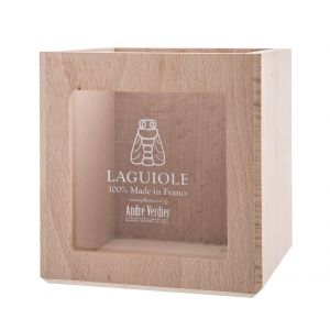 Andre Verdier French Branded Display Box Cheese Beechwood 13x13x13.5cm