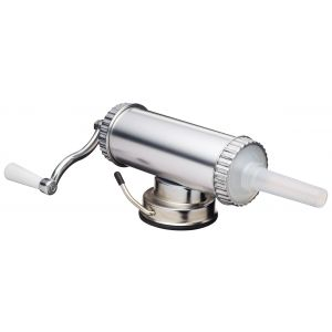 Davis & Waddell Sausage Maker with Funnels Silver 33x24x15cm/Funnels 15mm/19mm/22mm/Capacity 1kg/2lbs