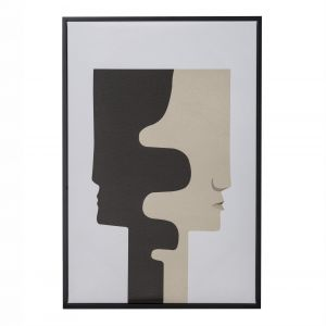 Amalfi Seeing Double Wall Décor Black/Cream/White 42x3x62cm