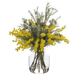 Rogue Wattle Mix-Monica Vase Yellow/Glass 40x38x48cm