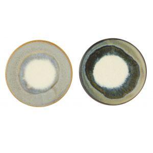 Amalfi Asher Coaster 2 Asst Colours 6 Charcoal/6 Moss 11cm