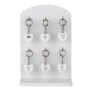 Amalfi Joyful Keyrings 6 Asst Designs 6 Of Each Phrase 3x0.5x3cm